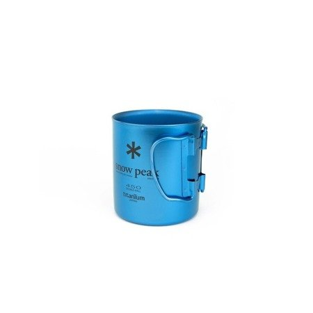 Kubek tytanowy - Snow Peak Titanium Single Cup 450 - Fresh Water Blue