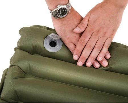 Mata z wbudowaną pompką - Snugpak Air mat with Built-in Foot Pump - Olive