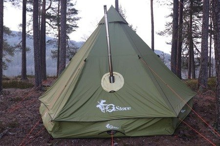 Ognioodporny przepust - Gstove Fireproof exit for Tentprotector