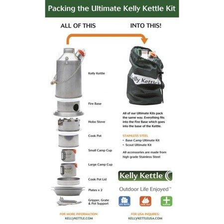 Zestaw Kelly Kettle ULTIMATE Scout 1.2L Stalowy