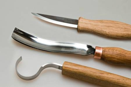 Zestaw do rzeźbienia z dłutem - BeaverCraft S14 - Spoon Carving Set with Gouge