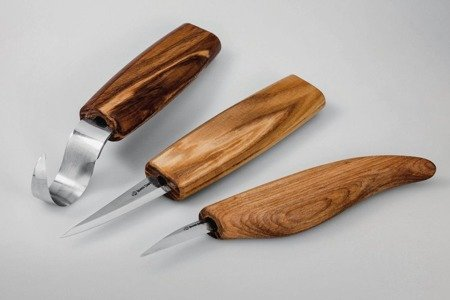 Zestaw noży do rzeźbienia - BeaverCraft S17 - Extended Spoon and Whittle Knife Set